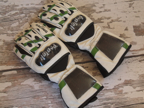 ProTek Green and White Stripe Glove JR