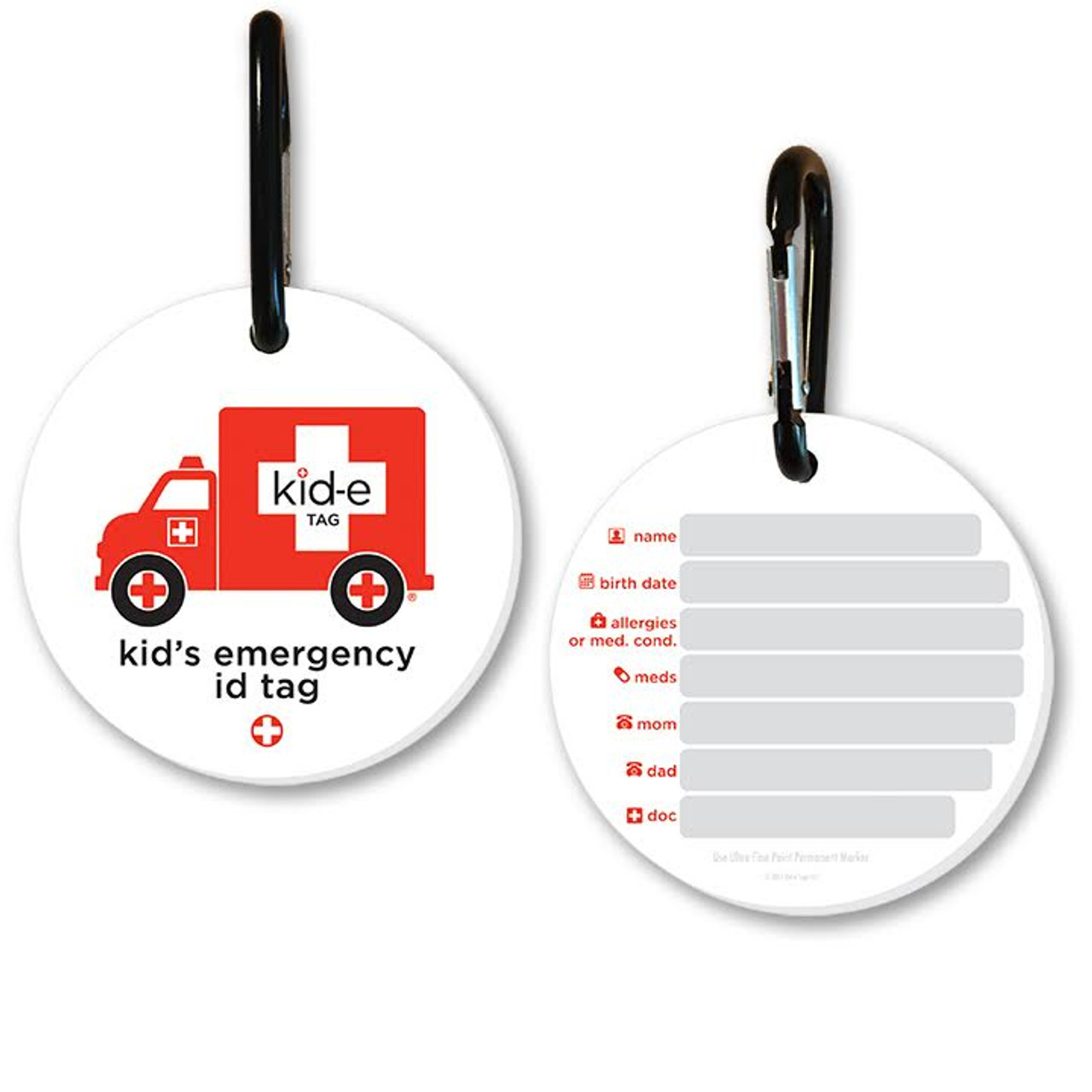 Medical Alert Tags Kids Luggage Tags Medical Id Tag