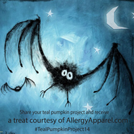 Allergy Apparel has a treat in exchange for your teal pumpkin project snapshot!
