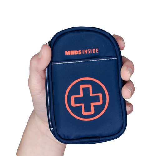 """Jake"" Small Auvi-Q or Inhaler Navy Medicine Case"