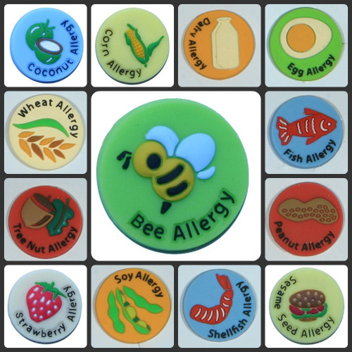 Allerbling allergy wristband charms