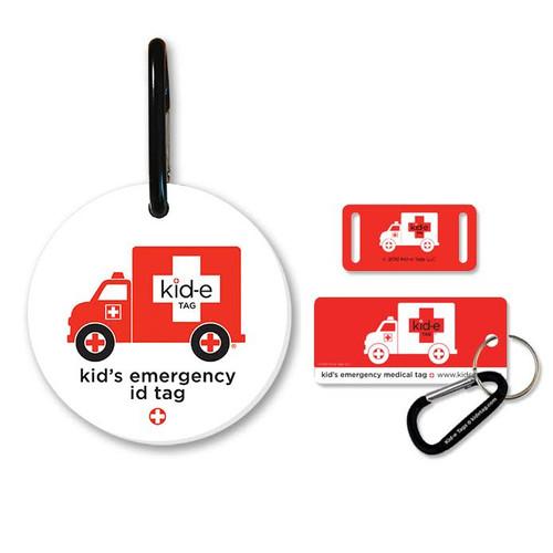 Kid-e Medical Bag Tag, Shoe Tag & Key Tag