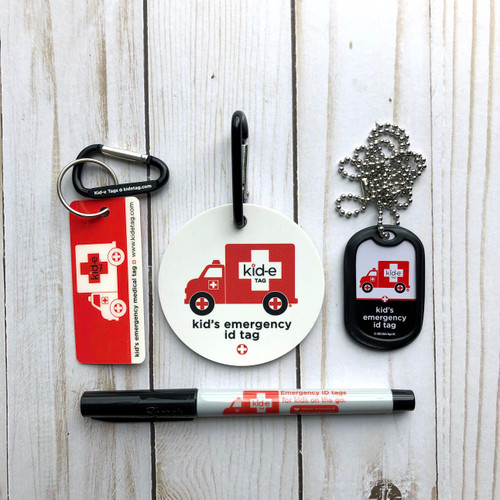Kid-e Tag Starter Kit (Emerg. ID Tags)