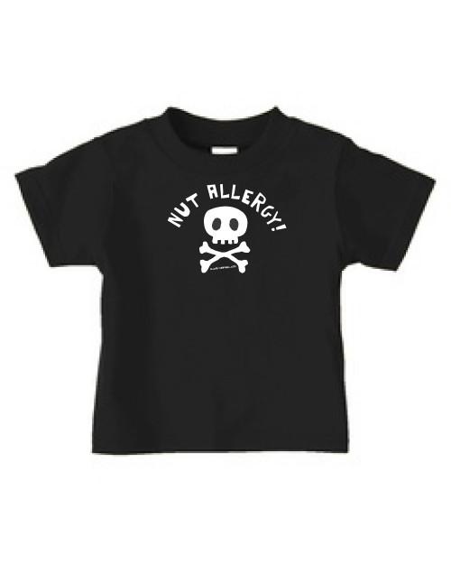 kids nut allergy shirt
