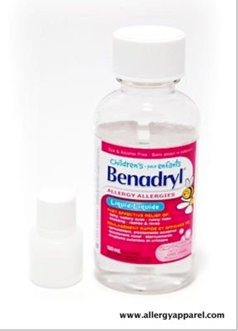 Using these bottles is a great way to help eliminate the weight of the large Benadryl® bottle.