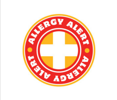 Allergy Alert Sticker Roll (1k)
