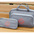 """Parker"" Large Deluxe Travel Medicine Bags Cases 'TWO-IN-ONE"" / Gray/ INSULATED!"