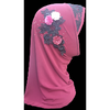Children Muslim Small Girl Hijab With Lace Islamic Scarf Shawls Stretch Turban - Black,Pink, Beige, Dark Red and White