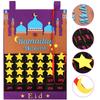 Eid Ramadan Mubarak Felt Hanging Countdown Muslim 2021 Kids Gift Purple Calendar
