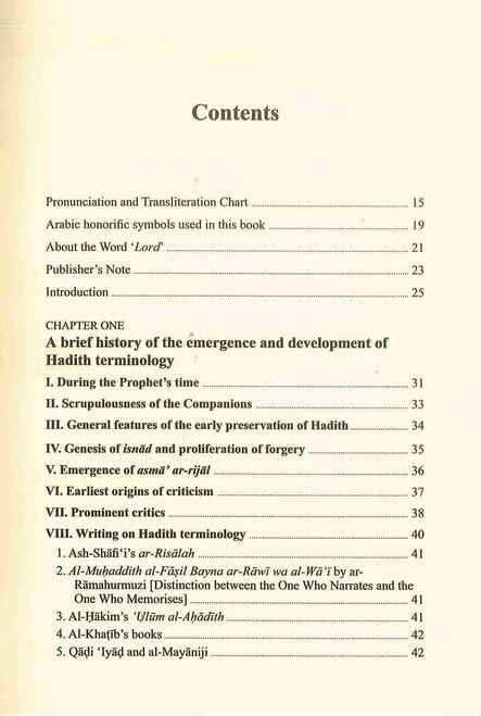 Hadith Terminology and Classification: A Handbook