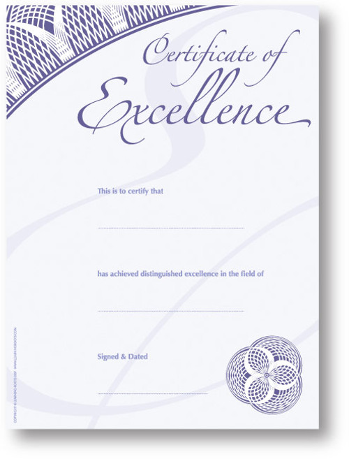 Certificate of Excellence (25 Pack - A4 Size)