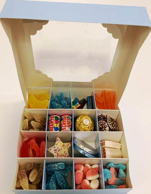 Blue Sweets Box Pick and Mix 16 Selection of Halal Sweet Zone Jelly (22713)