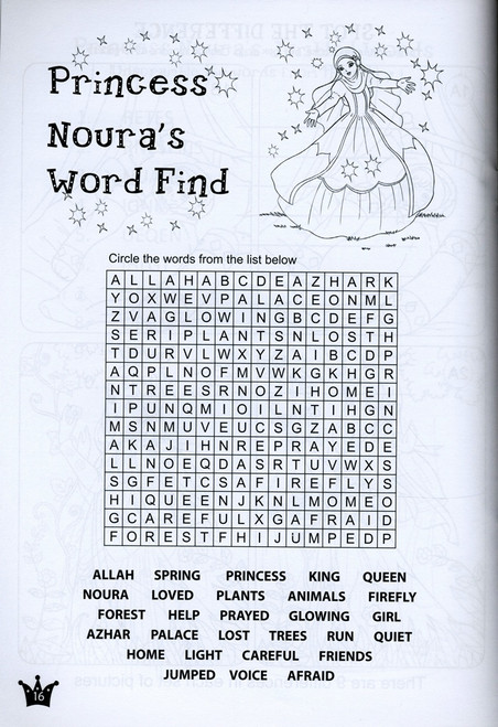 Princess Noura Coloring and Activity book