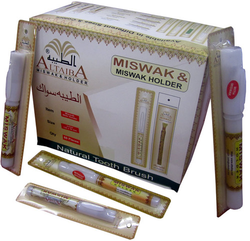 Miswak (Sewak) with Holder (Full Box of 36 Pieces)