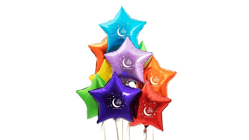 Silver Star Eid Mubarak Foil Balloons / Decorations / Accessories / Ramadhan
