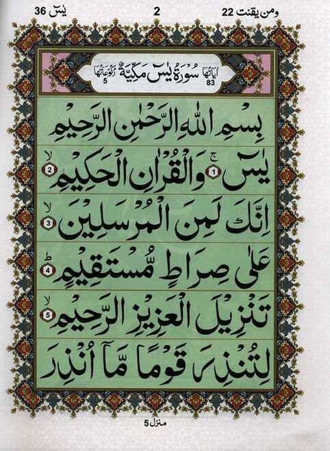 Surah Yaseen Without Translation