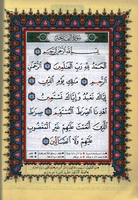 "Last 5 Parts of Qur'an 7"" x 9"" Full Size Tajweed Qur'an Portion (Surah Ahqaf to Surah Nas) (ARABIC ONLY)"