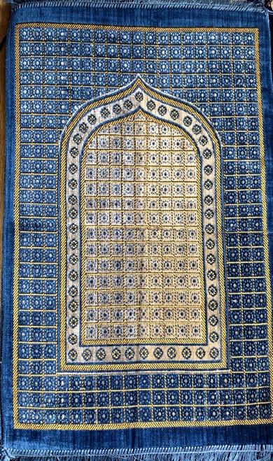 Cut Work Pray Mat :Blue