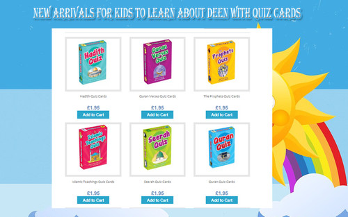 Quran Prophet Hadiths Seerah Qraaan Verses Quiz Cards for Learning Islamic Muslim Kids