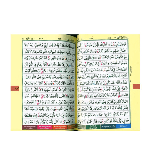 Tajweed Quran Colour Coded,Pakistani-Indian-Persian script (13x17)