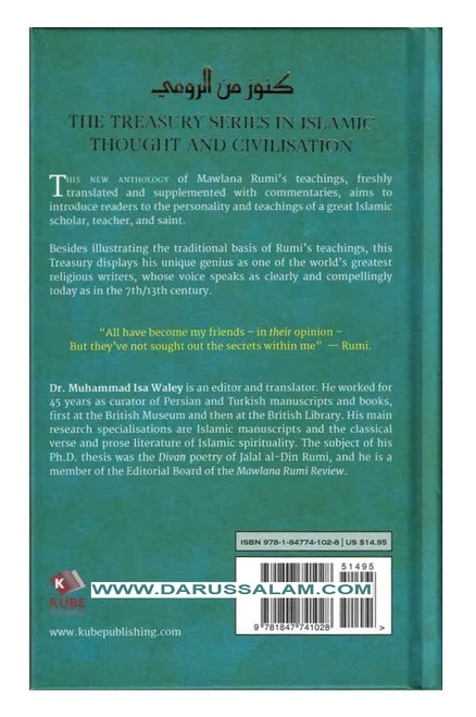 A Treasury of Rumi's Wisdom Treasury in Islamic Thought and Civilization, 9781847741028