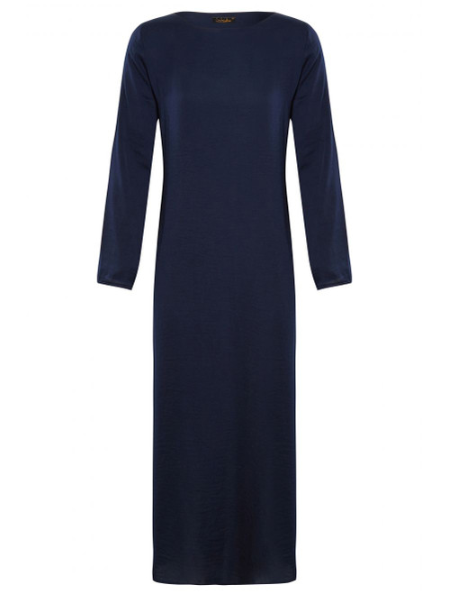 NAVY SLEEVED SLIP BLUE