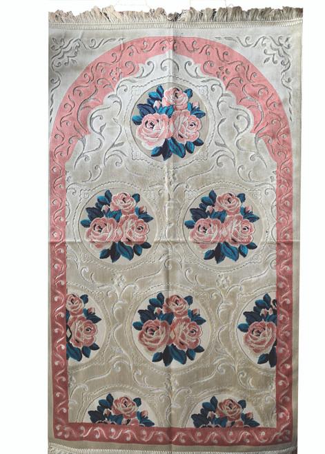 Prayer Rug Luxury Velvet with Turkish cutwork design