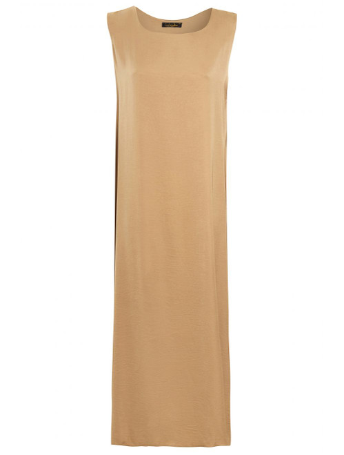 GOLD SLIP DRESS SLEEVELESS