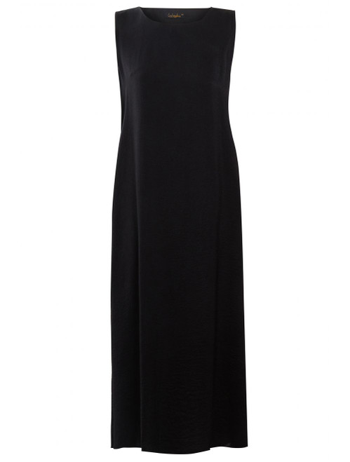 BLACK SLIP DRESS SLEEVELESS