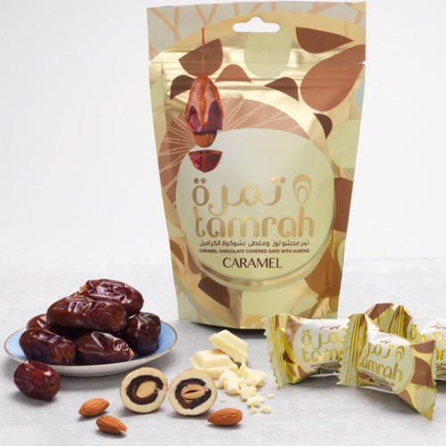 TAMRAH CARAMEL CHOCOLATE DATES WITH ALMOND 80G
