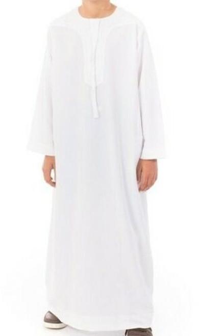 IKAF OMANI THOBE JUBBA ARABIAN  DRESS FOR BOYS.