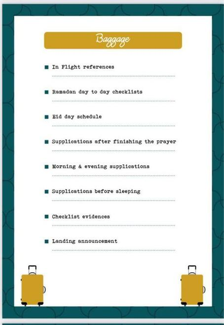 Ramadan Checklist Planner