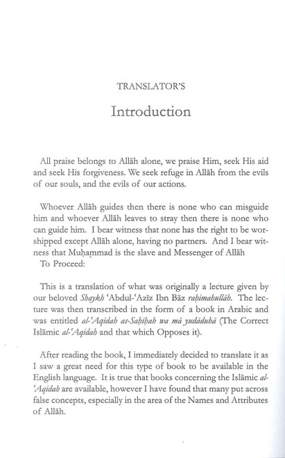 The correct Islamic Aqidah & that which opposes it