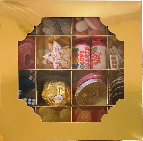 Gold Sweets Box Pick and Mix 16 Selection of Halal Sweet Zone Jelly (21400)