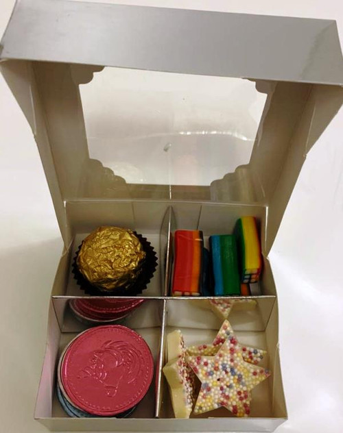 Silver Sweets Box Pick and Mix 4 Selection of Halal Sweet Zone Jelly (21426)