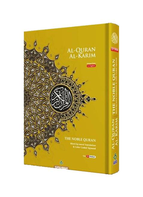 Maqdis B5 Medium Al Quran Al Kareem Word-by-Word Translation Colour Coded Tajweed Yellow