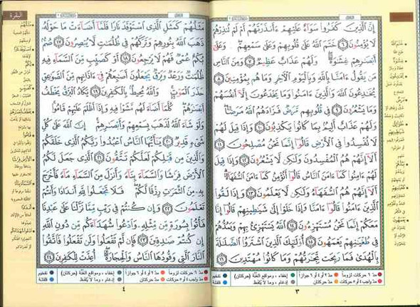 Tajweed Quran - Colour coded Arabic only Medium