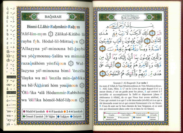 Tajweed Quran | Translation and Transliteration – French