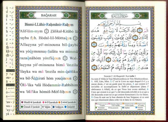 Tajweed Quran   Translation and Transliteration – French