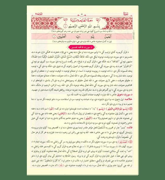 Pashto Tafseer Qur'an Kareem