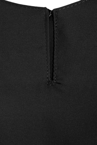 Black Basic Abaya Nida Fabric, Zadina