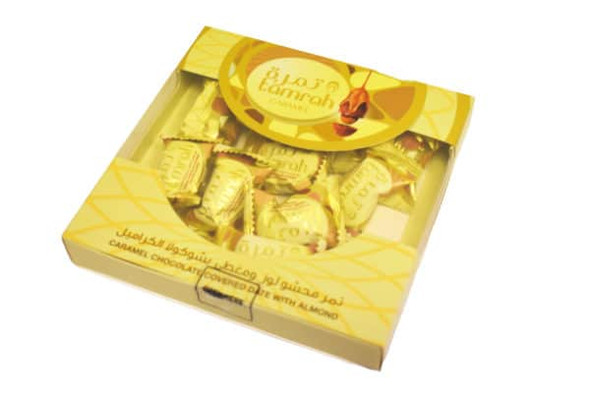TAMRAH CARAMEL CHOCOLATE DATES SQUARE BOX 200G