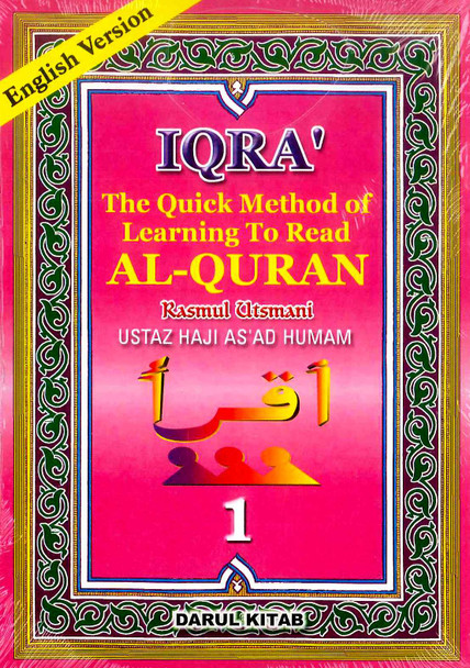 IQRA The Quick Method of Learning To Read Al-Quran (6 Book Set)