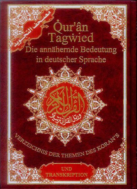 Tajweed Quran with Meanings Translation and Transliteration in Deutsche Spracher : German