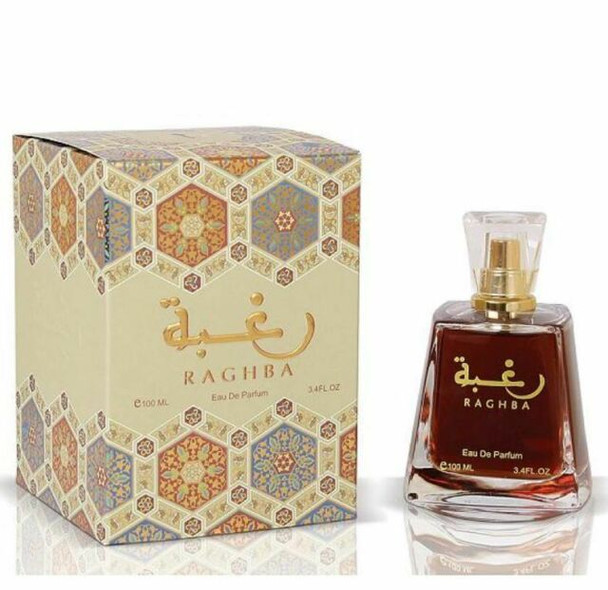 Raghba by Lattafa Ragba Arabian Halal Fragrance Attar EDP Spray Perfume 100ml