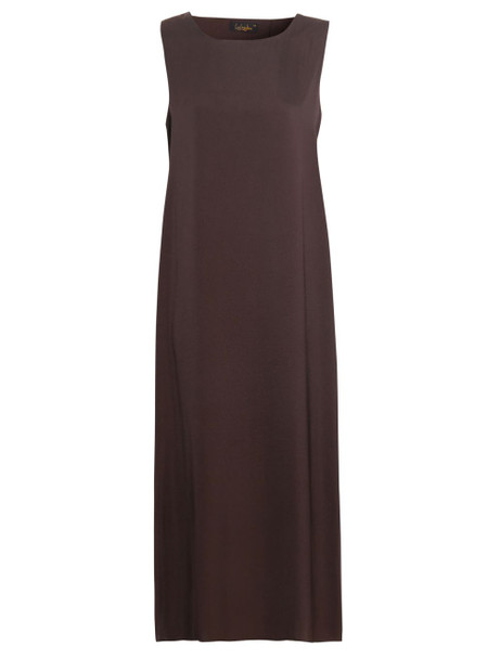 DARK CHOCOLATE SLIP DRESS  SLEEVELESS