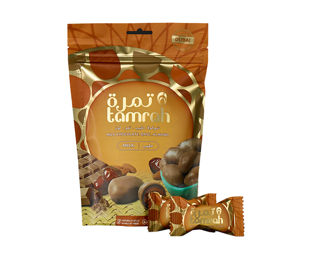 Tamrah Milk Chocolate Dates With An Almond Centre   80G