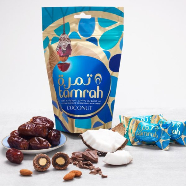 TAMRAH COCONUT CHOCOLATE DATES WITH ALMOND 80G