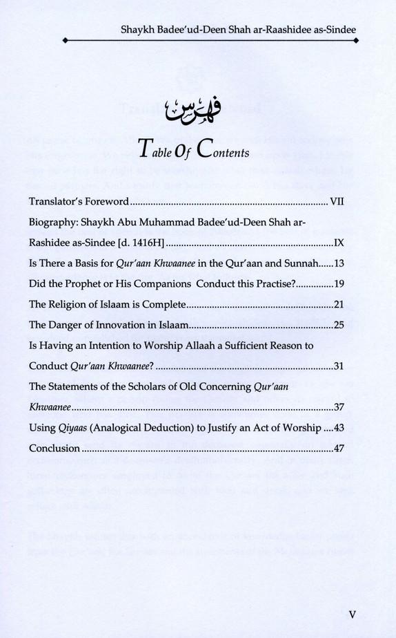 The Legislative Position on Qur'aan Khwaanee (Reciting the Qur'aan to Benefit the Deceased One)