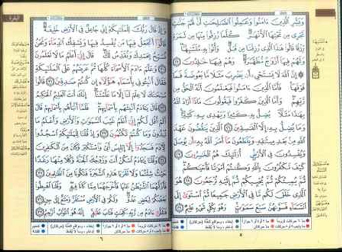 Tajweed Quran - Colour Coded Arabic Only Small
